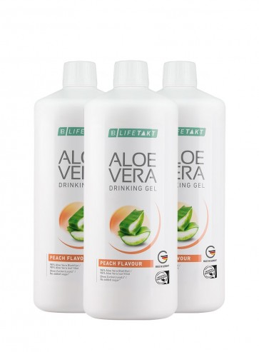 Aloe Vera Drinking Gel Peach, 6er Pack